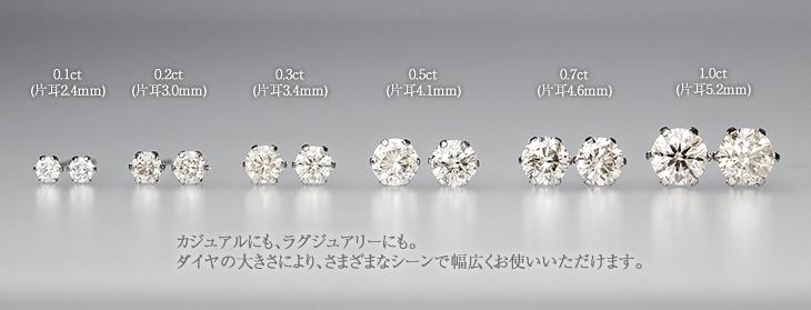 送料無料 一粒ダイヤピアス PT900(プラチナ) ダイヤモンド 0.70ct ピアス